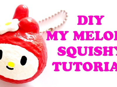 My Melody Homemade Squishy Tutorial