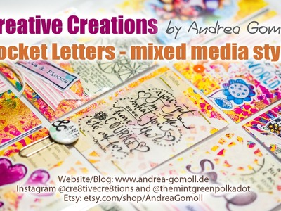 【Pocket Letters】Mixed Media style