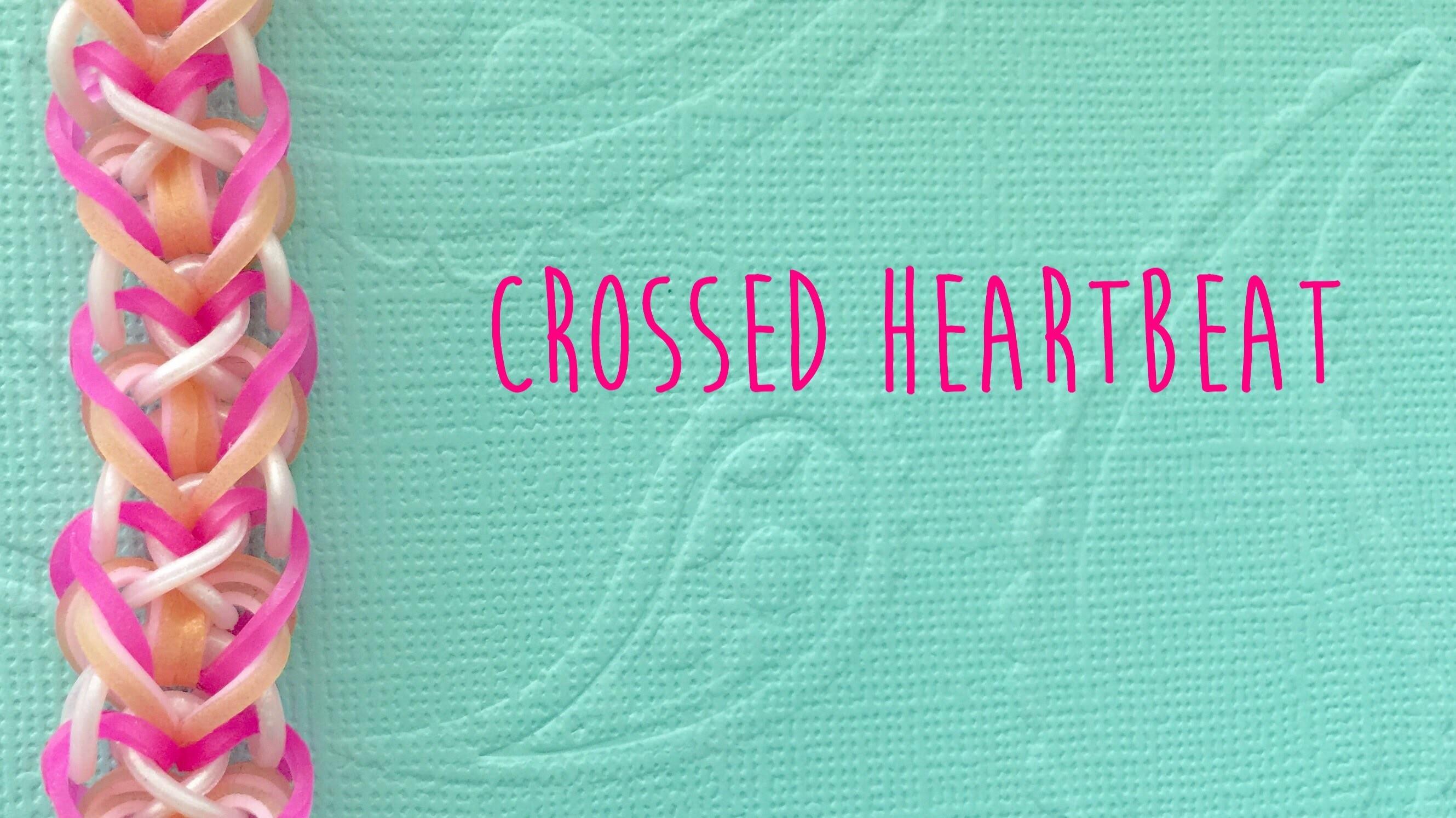 Rainbow Loom Bands Crossed Heartbeat Tutorial