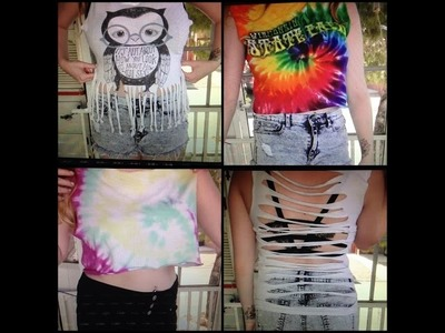Revamp Your Old T-Shirts: Summer Tanks & Crop Tops DIY