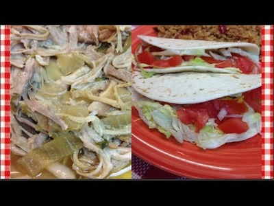 Slow Cooked Green Chili Pulled Pork Tacos ~ Noreen's Kitchen