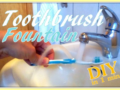 Toothbrush Fountain (to rinse your mouth) ✪DIY✪