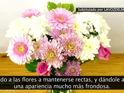 Truco jarrón de flores