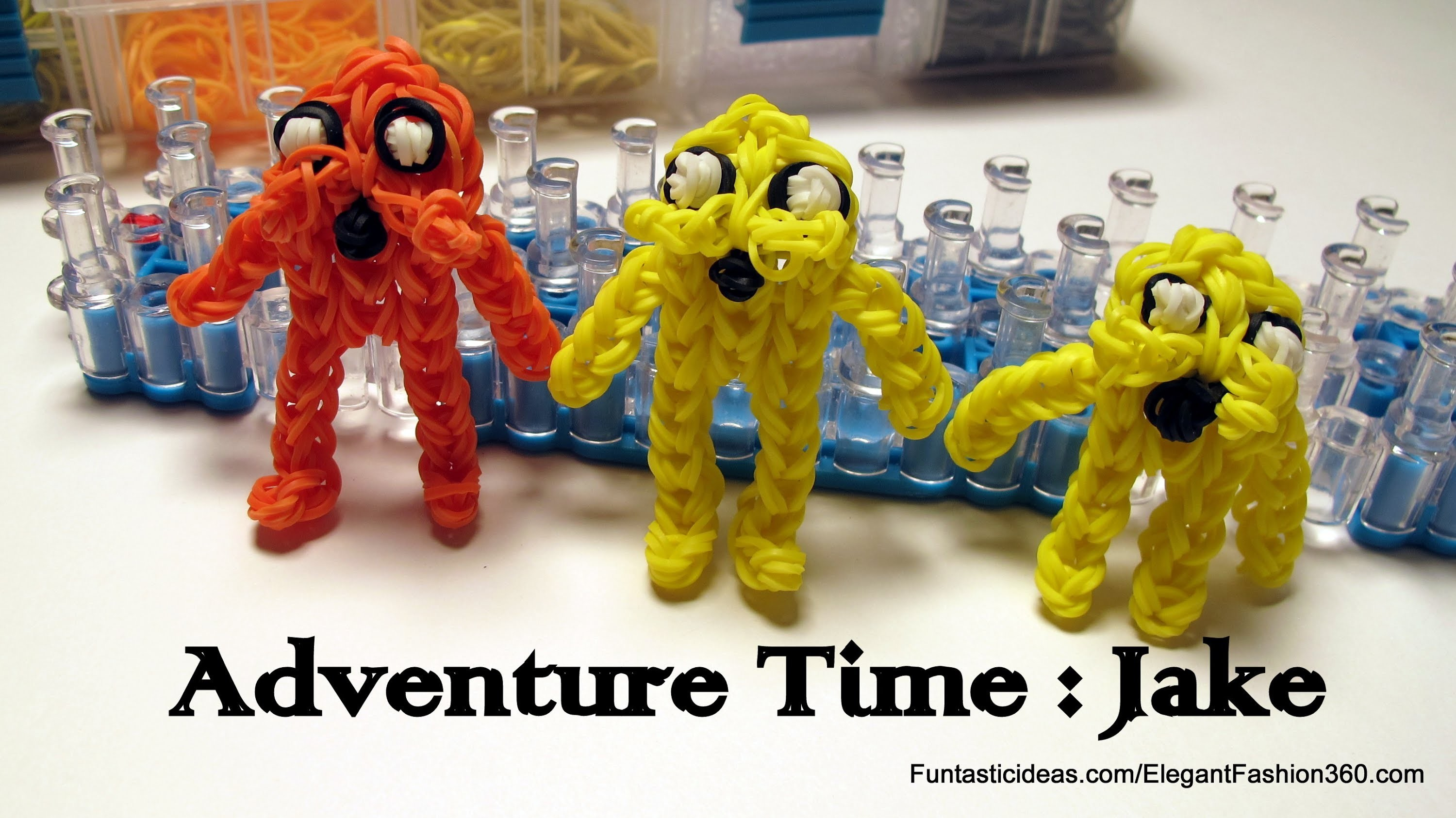 Adventure Time: Jake Action Figure.Character - How to Rainbow Loom Design