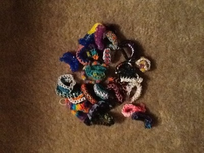 All my rainbow loom bracelets 2014