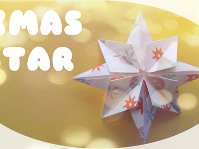 DIY Christmas Ornament - Christmas Star Origami