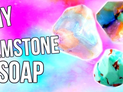 DIY Tumblr Inspired Gemstone Soap | Courtney Lundquist