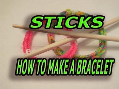 HOW TO MAKE A BRACELET ON STICKS, New Design, Rainbow Loom