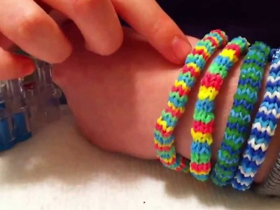 Rainbow loom Hexafish bracelet part 1