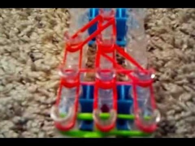 Strawberry charm rainbow loom