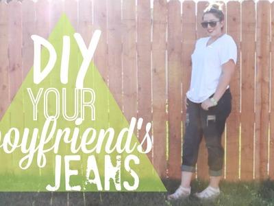 Boyfriend Jeans! | DIY