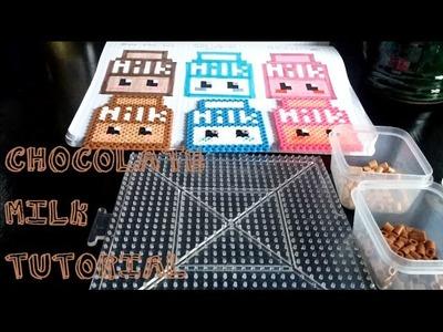 Chocolate Milk. perler bead tutorial