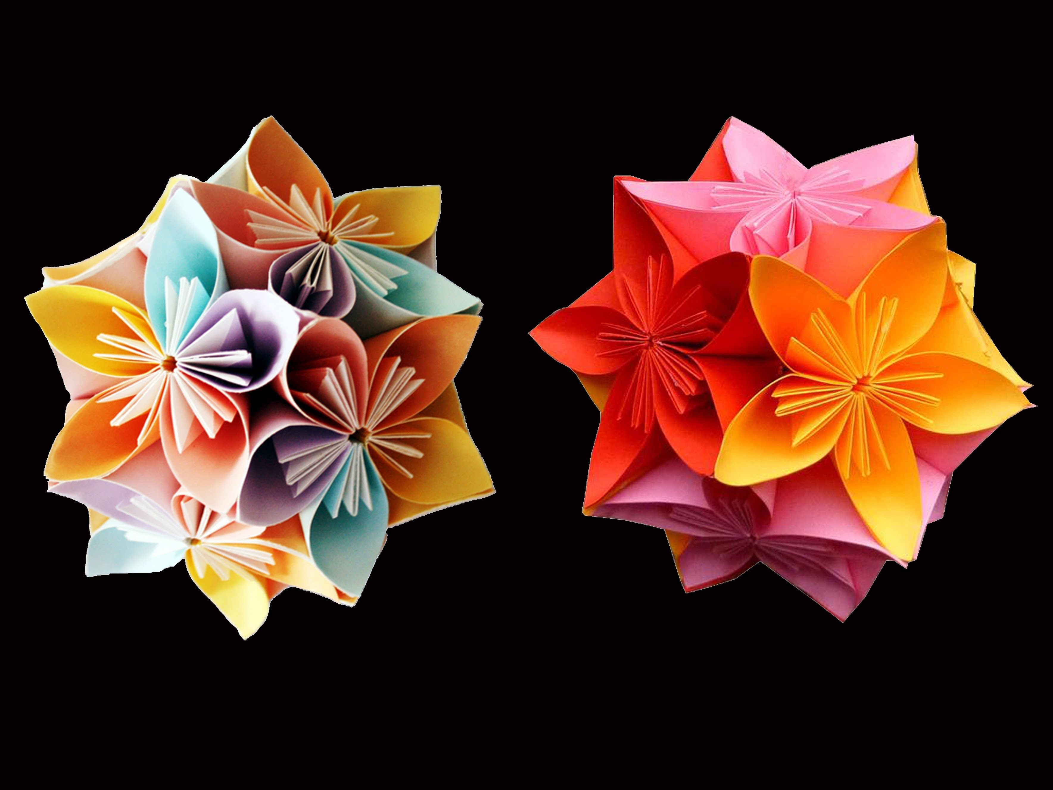 Christmas Crafts : How to make Kusudama ball ( DIY Crafts)