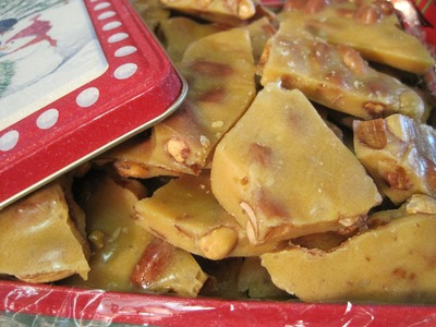 Christmas Day PEANUT BRITTLE - How to make PEANUT BRITTLE Recipe