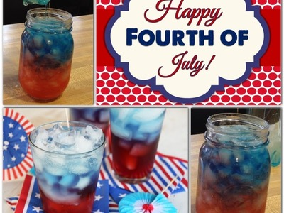 DIY | 4th of July layerd slushy!