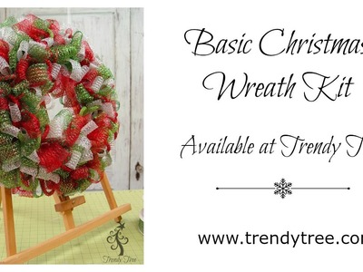 DIY Basic Christmas Wreath Kit at Trendy Tree