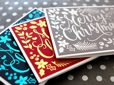 DIY Foil & Full Color Printables - Hand Painted Christmas Card