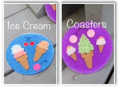 DIY Ice Cream Coasters   Another Coaster Friday