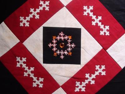 Diy  Kutch work design on cushion cover