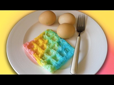 DIY PASTEL RAINBOW EGG WAFFLES (HOW TO)