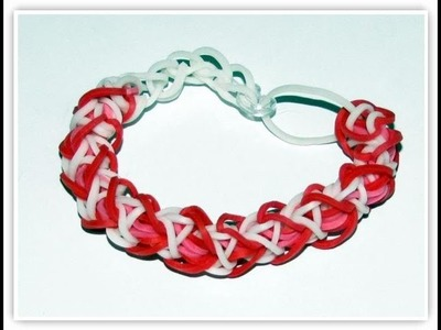 How to make heart shaped bracelet rainbow loom