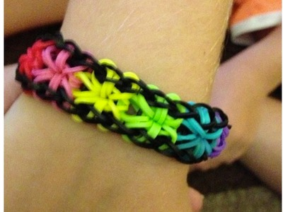 How To Make Rainbow Loom Starburst Bracelet | Fastest, Easiest Tutorial