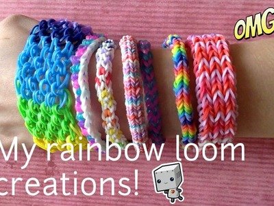 My first rainbow loom creations!