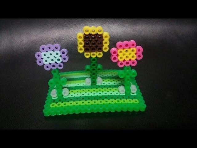Perler bead 3D garden