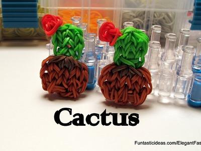 Rainbow Loom Cactus Charm - How to - Flower Series