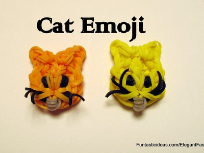 Rainbow Loom Cat Face Emoji.Emoticon charm - How to