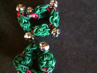 Rainbow Loom Christmas Wreath Jingle Bracelet