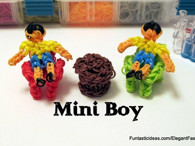 Rainbow Loom Mini Boy Action Figure.Charm - How to - Home Series