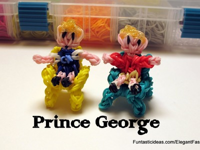 Rainbow Loom Prince George(Son, Boy) Action Figure Charm - How to - Royal Family
