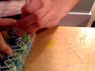 Rainbow Loom Reversible Seahawks Bracelet