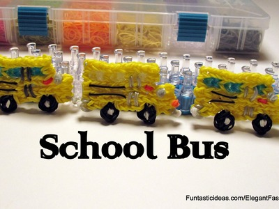 Rainbow Loom School Bus charm - How to - School Series