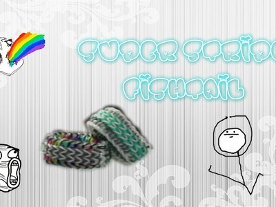Super Stripe Fishtail - Rainbow Loom