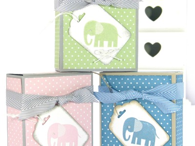 Adorable Box for Baby Bibs and Gifts Tutorial