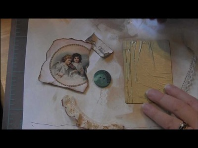 ATC Tutorial - Vintage ATC with a Button