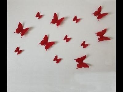 Como hacer Mariposas para decorar la pared