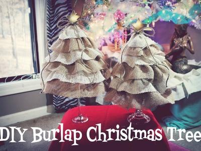DIY Christmas Trees Burlap Style