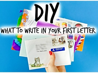 DIY - First letter to a Pen Pal!