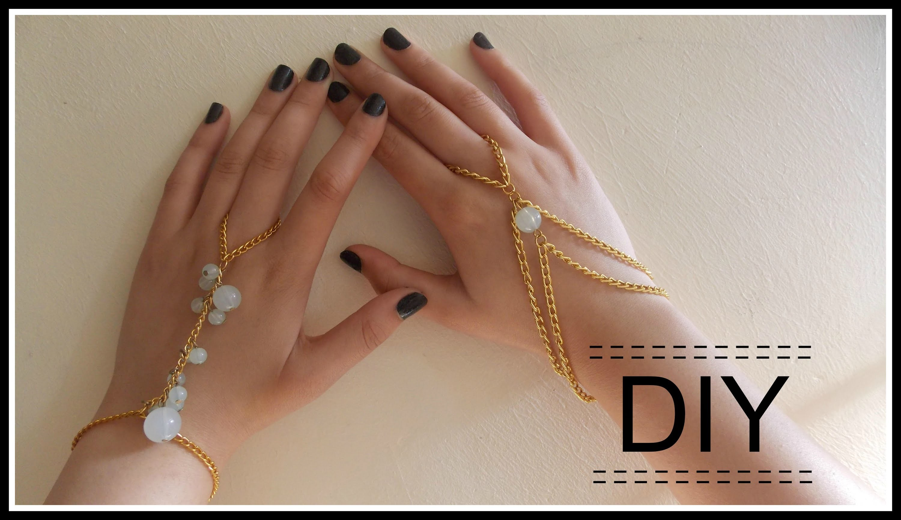 DIY: Hand and ring chain.bracelet [Part 2]