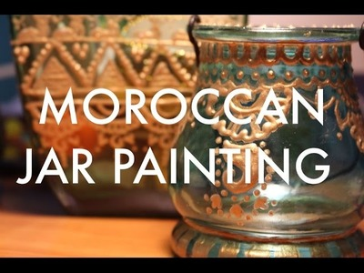 DIY: Moroccan Jar Painting