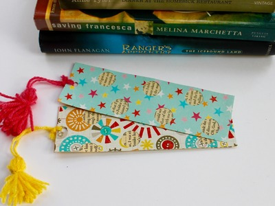 Easy craft: How to make fancy bookmark