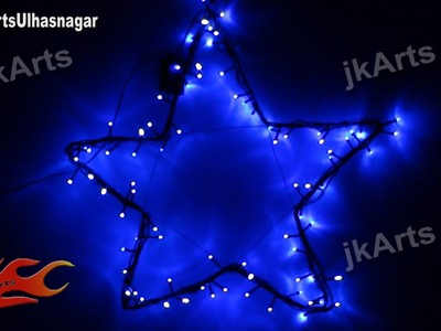 HOW TO: DIY Star with LED light ( Christmas. Diwali Decoration ) JK Arts 438