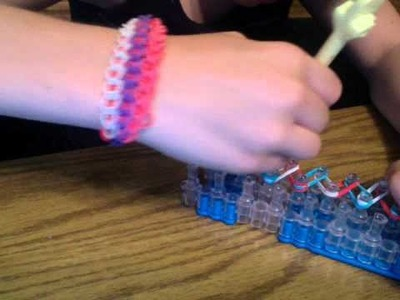 How to make a double rainbow loom bracelet.