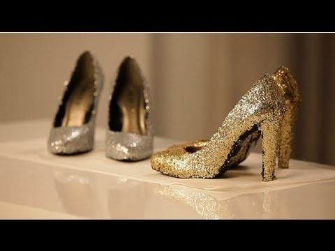 How to Make Glitter Shoes à la Miu Miu!