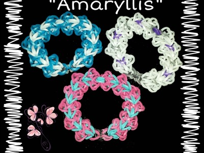 "New ""Amaryllis"" Hook Only Rainbow Loom Bracelet. How To Tutorial"