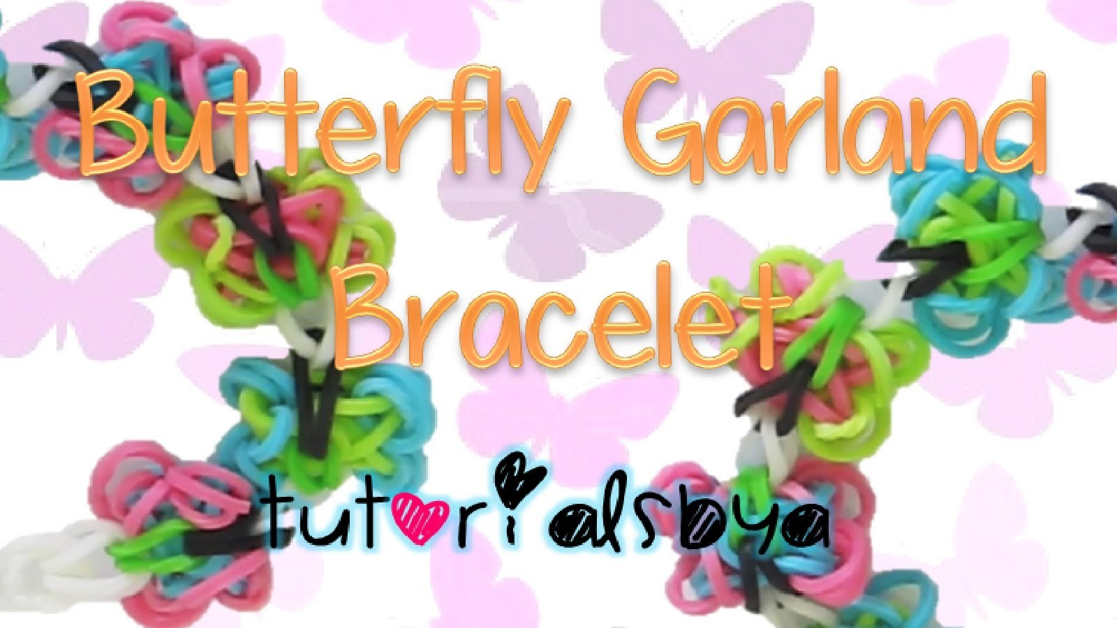 NEW Butterfly Garland Rainbow Loom Bracelet Tutorial