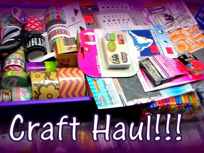 October Bargain Craft Haul! Mardens, Oriental Trading, Washi Tape, Fabric & More!